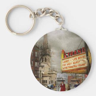 City - Amsterdam NY - Life begins 1941 Keychain
