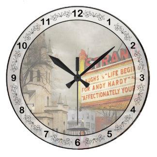 City - Amsterdam NY - Life begins 1941 Large Clock