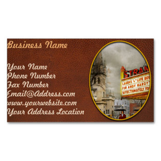 City - Amsterdam NY - Life begins 1941 Magnetic Business Card
