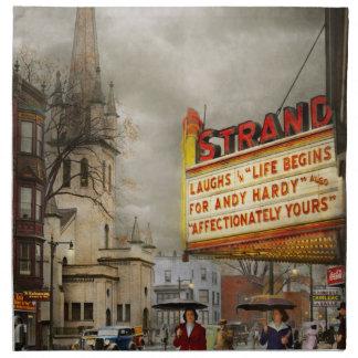 City - Amsterdam NY - Life begins 1941 Napkin