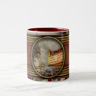 City - Amsterdam NY - Life begins 1941 Two-Tone Coffee Mug