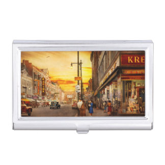 City - Amsterdam NY - The lost city 1941 Business Card Holder