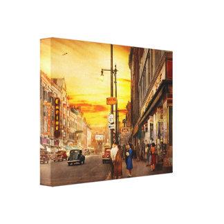 City - Amsterdam NY - The lost city 1941 Canvas Print