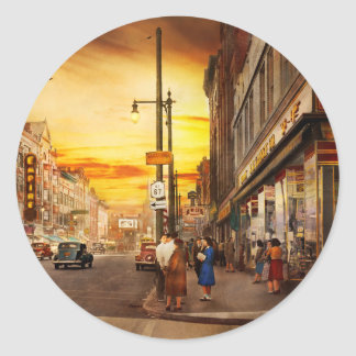 City - Amsterdam NY - The lost city 1941 Classic Round Sticker