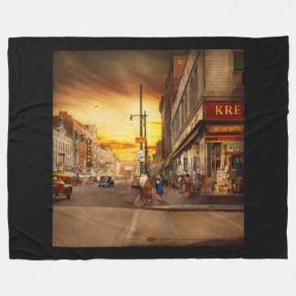 City - Amsterdam NY - The lost city 1941 Fleece Blanket