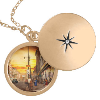 City - Amsterdam NY - The lost city 1941 Gold Plated Necklace
