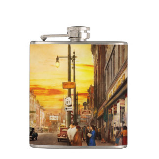 City - Amsterdam NY - The lost city 1941 Hip Flask