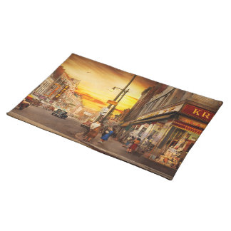 City - Amsterdam NY - The lost city 1941 Placemat