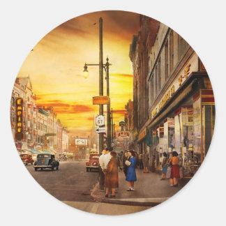 City - Amsterdam NY - The lost city 1941 Round Sticker