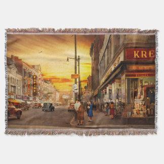 City - Amsterdam NY - The lost city 1941 Throw Blanket