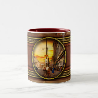 City - Amsterdam NY - The lost city 1941 Two-Tone Coffee Mug