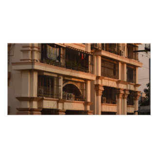 City Apartment Sunset Card