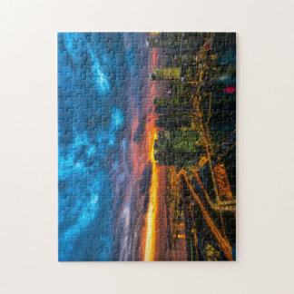 City at dusk jigsaw puzzle