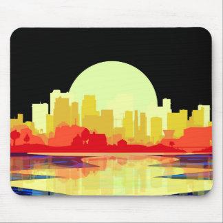 City at Night Mouse Pad