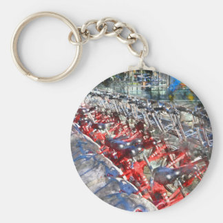City Bicycles in Barcelona Basic Round Button Keychain