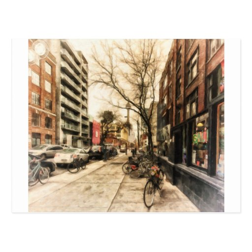 City Bicycles in Downtown Toronto by Shawna Mac Post Card