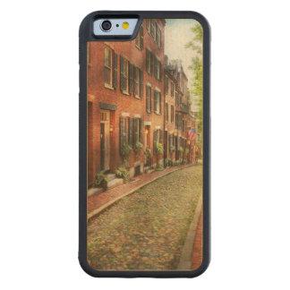 City - Boston MA - Acorn Street Carved Maple iPhone 6 Bumper Case