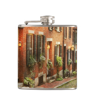 City - Boston MA - Acorn Street Hip Flask