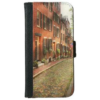 City - Boston MA - Acorn Street iPhone 6 Wallet Case