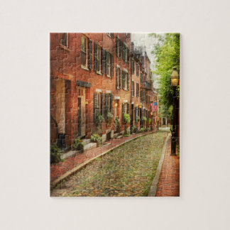 City - Boston MA - Acorn Street Jigsaw Puzzle