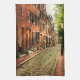 City - Boston MA - Acorn Street Kitchen Towel