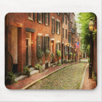City - Boston MA - Acorn Street Mouse Pad