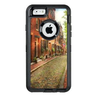 City - Boston MA - Acorn Street OtterBox Defender iPhone Case