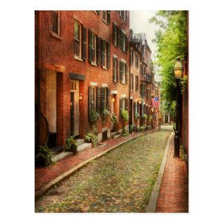 City - Boston MA - Acorn Street Postcard