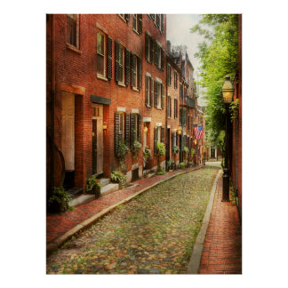 City - Boston MA - Acorn Street Poster