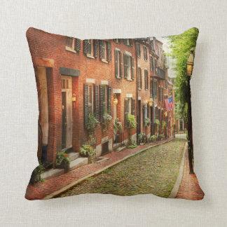 City - Boston MA - Acorn Street Throw Pillow