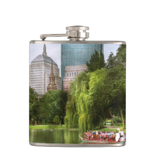 City - Boston Ma - Boston public garden Hip Flask