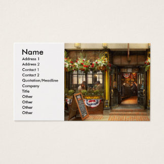 City - Boston MA - For the weary traveler Business Card