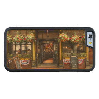 City - Boston MA - For the weary traveler Carved Maple iPhone 6 Bumper Case