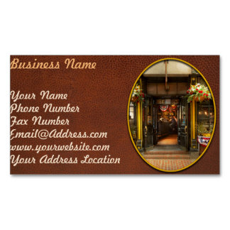 City - Boston MA - For the weary traveler Magnetic Business Card