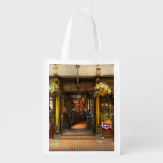 City - Boston MA - For the weary traveler Reusable Grocery Bag