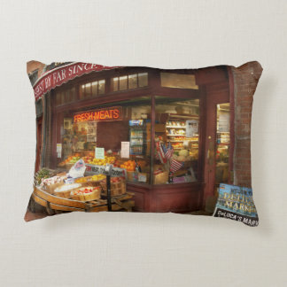 City - Boston Ma - Fresh meats and Fruit Decorative Pillow