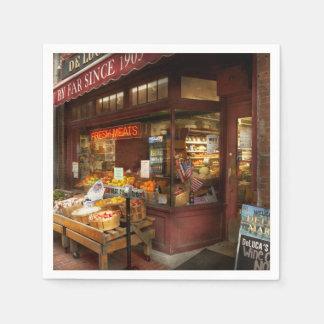 City - Boston Ma - Fresh meats and Fruit Paper Napkin
