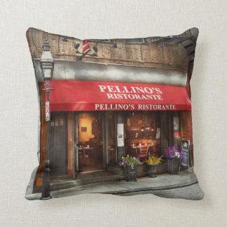 City - Boston, MA - Pellino's Ristorante Throw Pillow