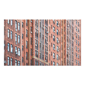 City building facade with pattern windows photo print
