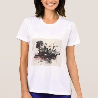City Buildings Drawing Womens Active Tee
