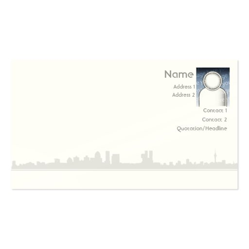 City - Business Pack Of Standard Business Cards