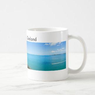 City by the Ocean Panorama Coffee Mug