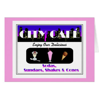 City Café Pink Card