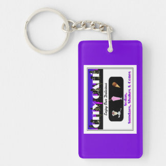 City Café Purple Keychain