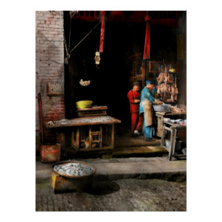 City - California - Fish Alley smells fowl 1886 Poster
