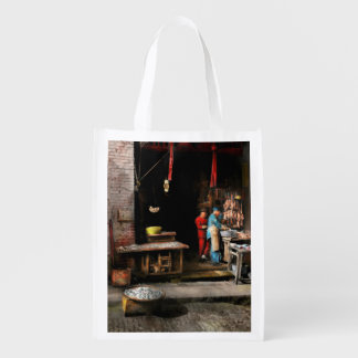 City - California - Fish Alley smells fowl 1886 Reusable Grocery Bag