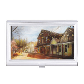 City - California - The town of Downieville 1933 Business Card Holder