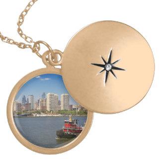 City - Camden, NJ - The city of Philadelphia Locket Necklace