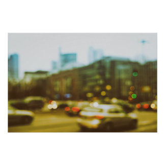 City center abstractly poster