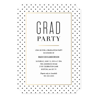 City Chic Graduation Invitation